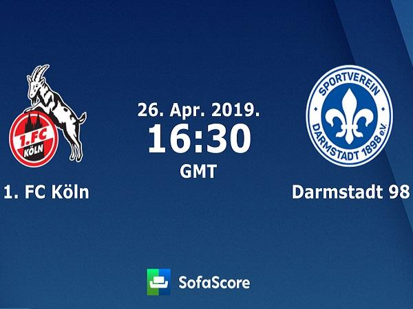 Soi kèo Cologne vs Darmstadt, 023h30 ngày 26/4