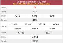 Thống kê XSQB 24/9/2020 chốt lô VIP Quảng Bình thứ 5