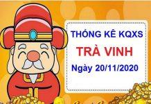 Thống kê XSTV ngày 20/11/2020 - Thống kê chi tiết xổ số Trà Vinh hôm nay