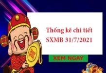 Thống kê chi tiết SXMB 31/7/2021