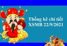 Thống kê chi tiết XSMB 22/9/2021