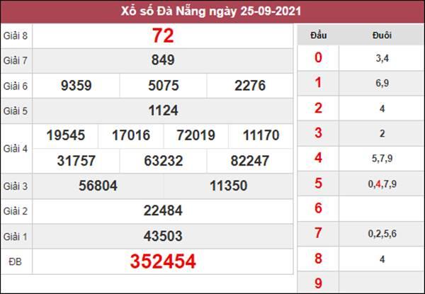 Thống kê KQXSDNG 29/9/2021 thứ 4 chốt cầu lô VIP